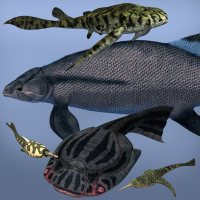 Devonian Fishes DR - Extended License 3D Models Extended Licenses Dinoraul