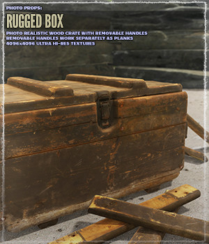 Photo Props: Rugged Box - Extended License 3D Models Gaming Extended Licenses ShaaraMuse3D