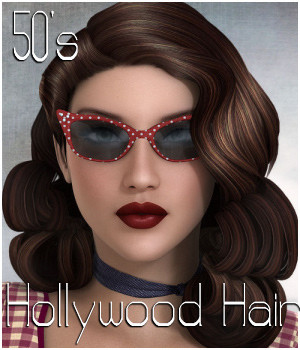 50s Hollywood Hair - Extended License 3D Figure Assets 3D Models Extended Licenses RPublishing