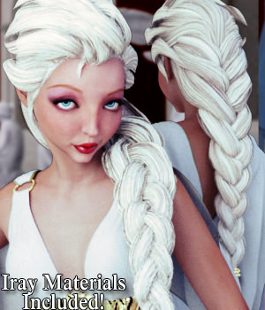 Aphrodite Hair - Extended License 3D Figure Assets 3D Models Extended Licenses RPublishing