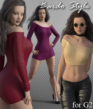 Bardot Style for G2 - Extended License 3D Figure Assets Extended Licenses RPublishing