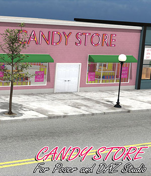 Candy Store Exterior - Extended License 3D Models Extended Licenses RPublishing