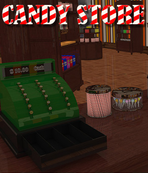 Candy Store Interior - Extended License 3D Models Extended Licenses RPublishing
