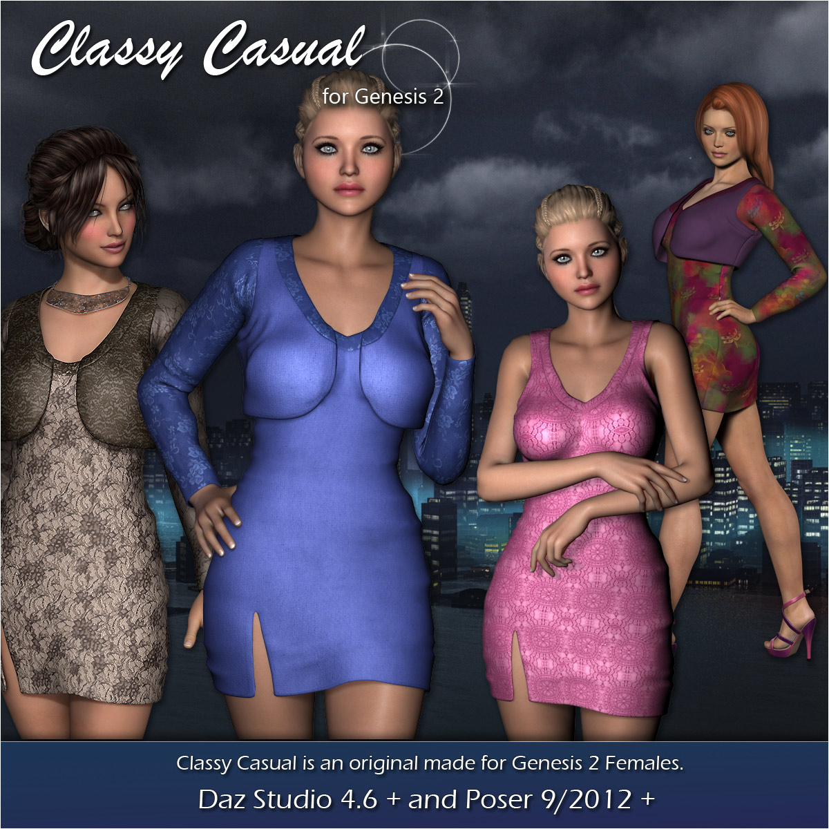 Classy Casual Dress & Bolero for Gen2 - Extended License