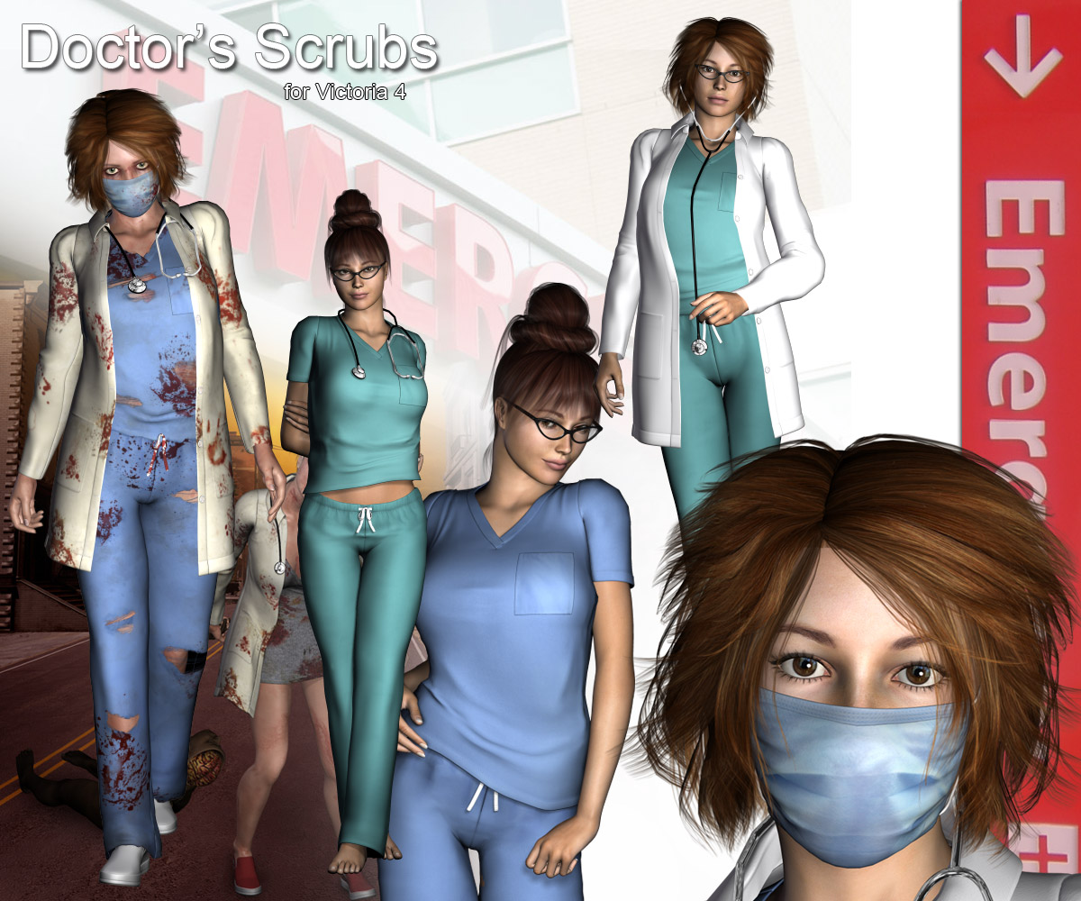 Doctor's Scrubs - Extended License