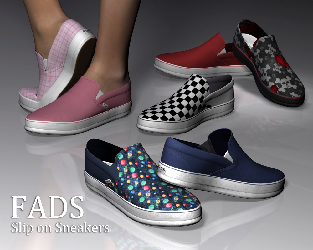 Fads Slip On Sneakers - Extended License