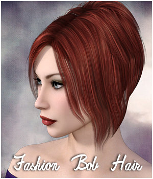 Fashion Bob Hair V4/Gen2 - Extended License 3D Figure Assets Extended Licenses RPublishing