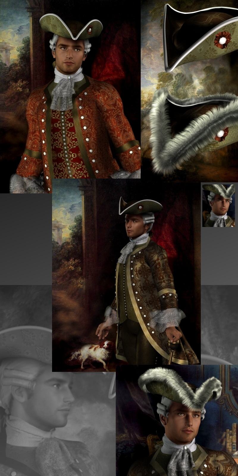 Francois-Philippe M4 18th Century Costume - Extended License by RPublishing