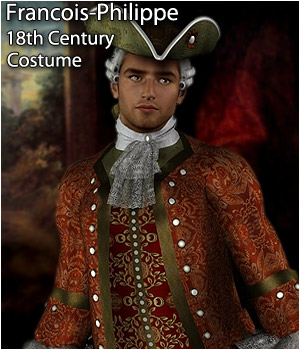 Francois-Philippe M4 18th Century Costume - Extended License 3D Figure Assets Extended Licenses RPublishing