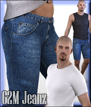 G2M Jeanz plus FREE bonus t-shirt - Extended License 3D Figure Assets Extended Licenses RPublishing