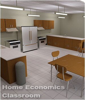 Home Economics Classroom (Poser, DS and Obj) - Extended License 3D Models Extended Licenses RPublishing