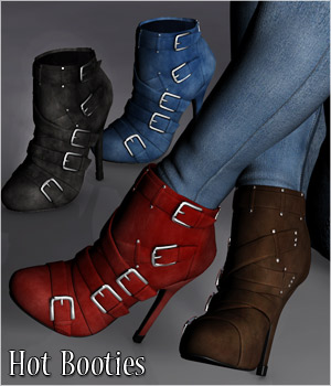 Hot Booties - Extended License 3D Figure Assets Extended Licenses RPublishing