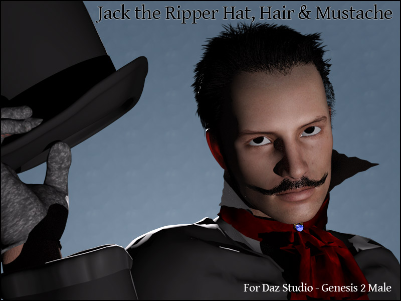 Jack The Ripper Hat, Hair & Mustache G2M - Extended License