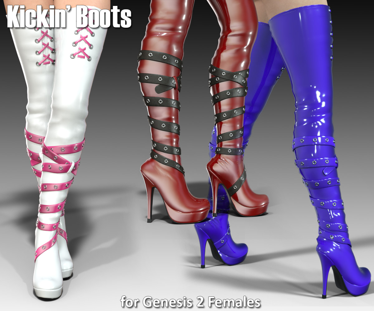 Kickin Boots for Gen2Female - Extended License