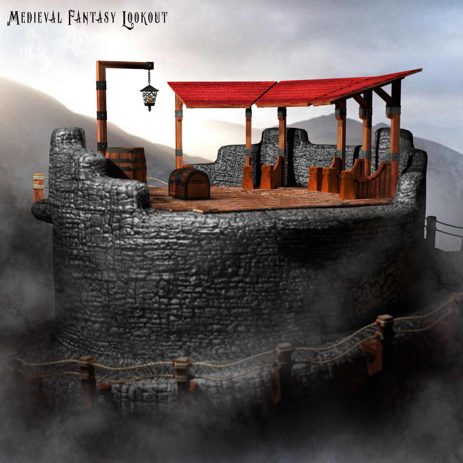 Medieval Fantasy Lookout Prop Set - Extended License