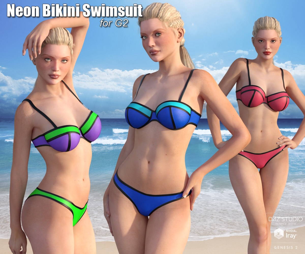 Neon Bikini Swimsuit for G2 - Extended License