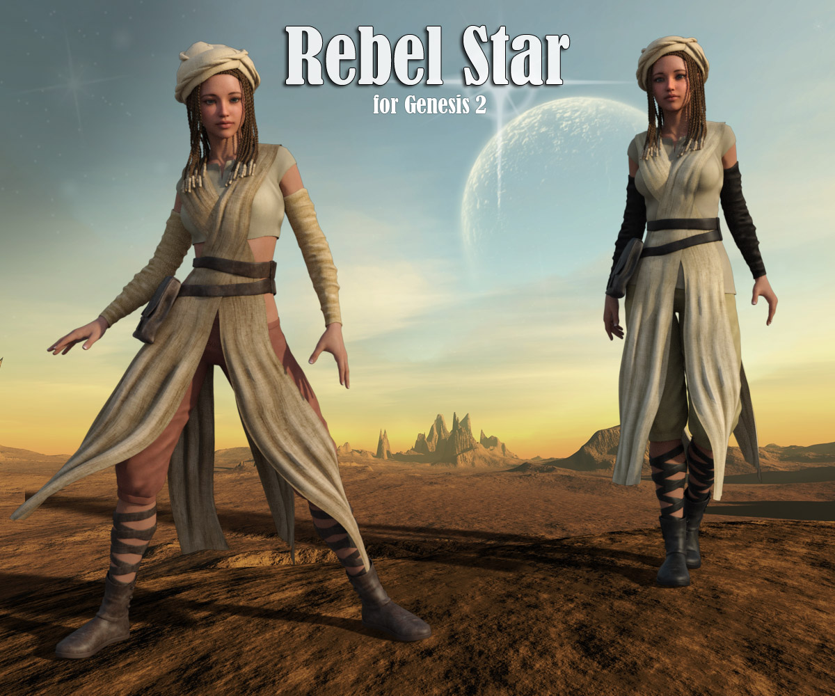 Rebel Star for Gen2 Female - Extended License