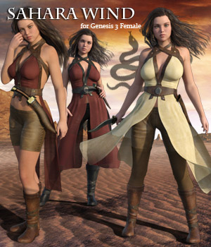Sahara Wind for G3F - Extended License 3D Figure Assets Extended Licenses RPublishing
