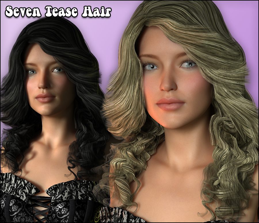 Seven Tease Hair - Extended License