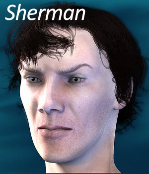 Sherman for Genesis 2 Male - Extended License 3D Figure Assets Extended Licenses RPublishing