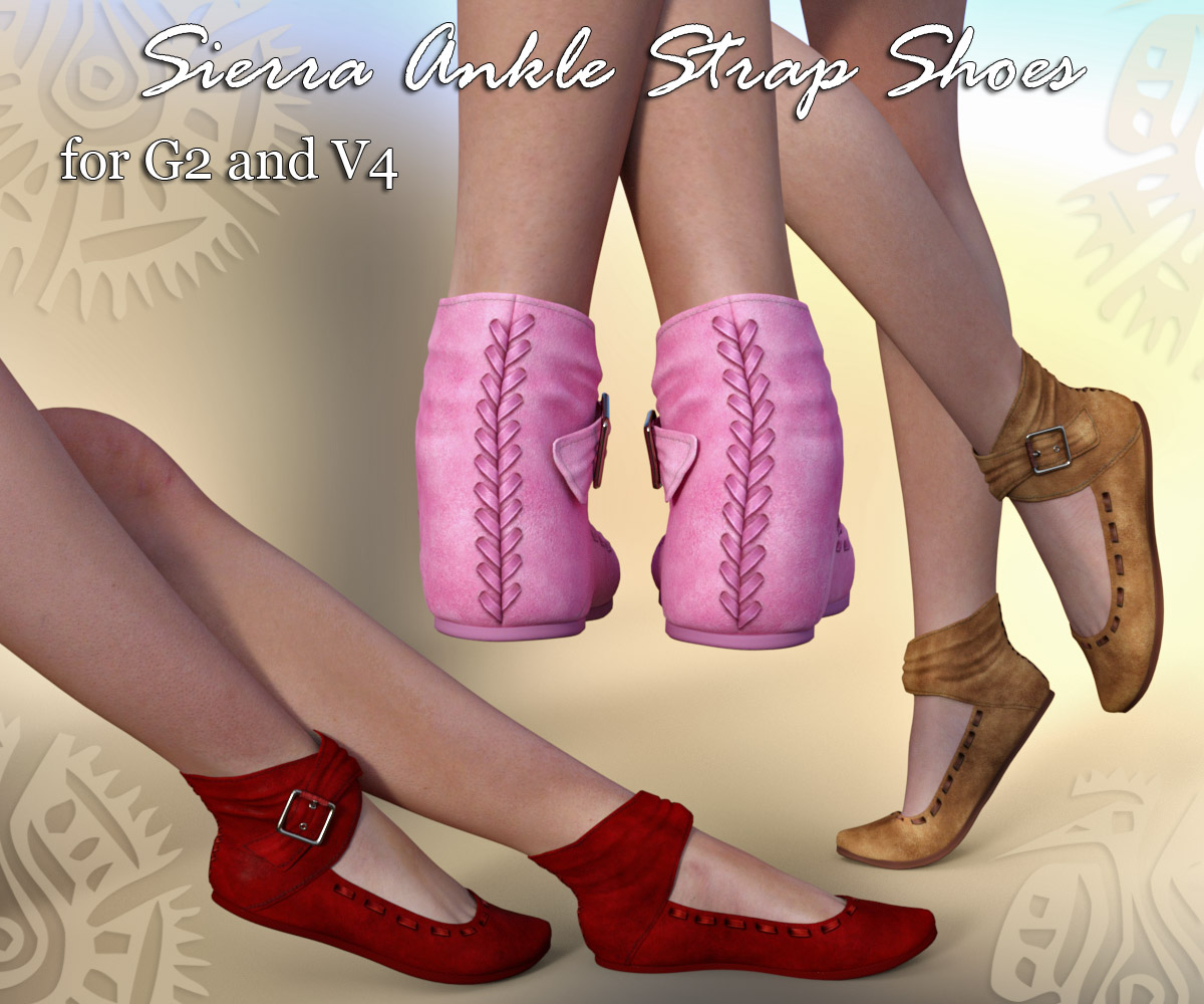 Sierra Ankle Strap Shoes (G2 & V4) - Extended License