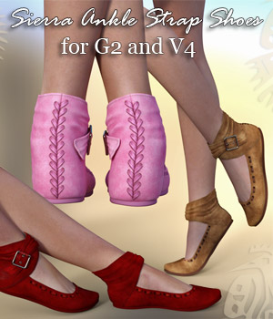 Sierra Ankle Strap Shoes (G2 & V4) - Extended License 3D Figure Assets Extended Licenses RPublishing