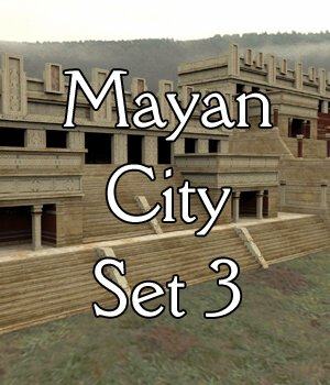 Mayan City: Temples (for Poser) by VanishingPoint