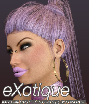 eXotique Karolina Hair for G3 female(s) 3D Figure Assets Anagord