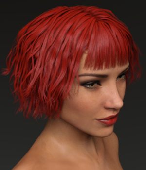 Messy Joan Hair for Genesis 3 Female(s) 3D Figure Essentials Toyen
