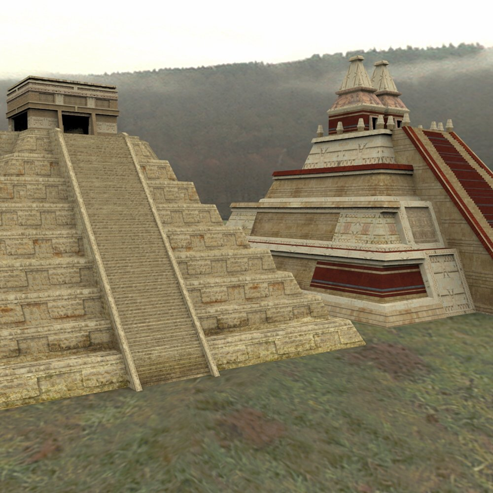 Mayan City: Pyramids (for Poser) by VanishingPoint