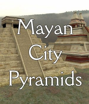 Mayan City: Pyramids (for Poser) 3D Models VanishingPoint