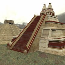 Mayan City: Pyramids (for Poser) image 1