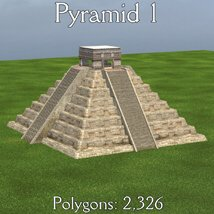 Mayan City: Pyramids (for Poser) image 3