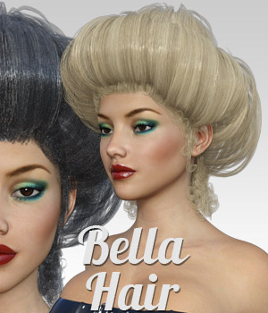 Bella Hair for G3 female(s) 3D Figure Assets powerage
