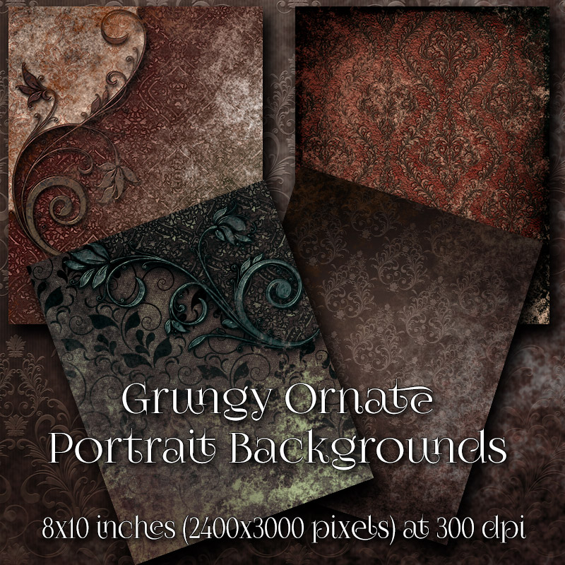 Grungy Ornate Backgrounds by antje
