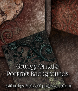 Grungy Ornate Backgrounds 2D Graphics antje