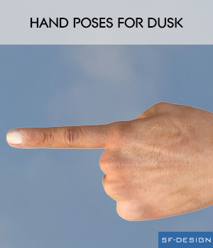 Hand Poses for Dusk 3D Figure Assets SF-Design