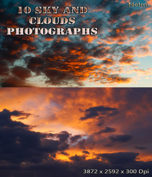 10 Sky and Clouds Photograph Backgrounds 2D Graphics nelmi