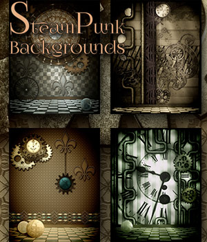 SteamPunk Backgrounds 2D Graphics antje