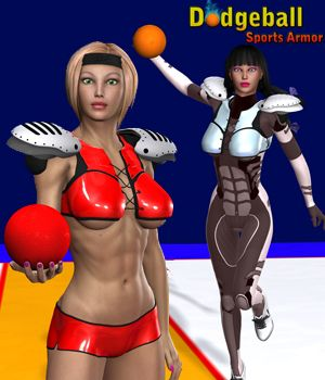 Dodgeball Sports Armor 3D Figure Essentials 3D Models apcgraficos