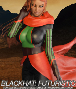BLACKHAT:FUTURISTIC - Guarded Heart Clothing for G2F 3D Figure Essentials Anagord
