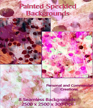 8 Seamless Painted Speckled Backgrounds 2D Graphics nelmi