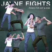 DTG Studios' Jayne Fights Poses for G3F & G3M image 1