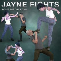 DTG Studios' Jayne Fights Poses for G3F & G3M image 2