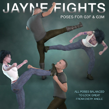 DTG Studios' Jayne Fights Poses for G3F & G3M image 3