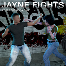 DTG Studios' Jayne Fights Poses for G3F & G3M image 4
