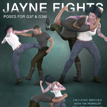 DTG Studios' Jayne Fights Poses for G3F & G3M image 5