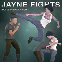 DTG Studios' Jayne Fights Poses for G3F & G3M image 6