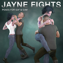 DTG Studios' Jayne Fights Poses for G3F & G3M image 7