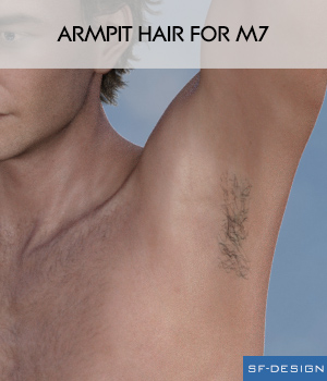 Armpit Hair for M7 3D Figure Assets SF-Design